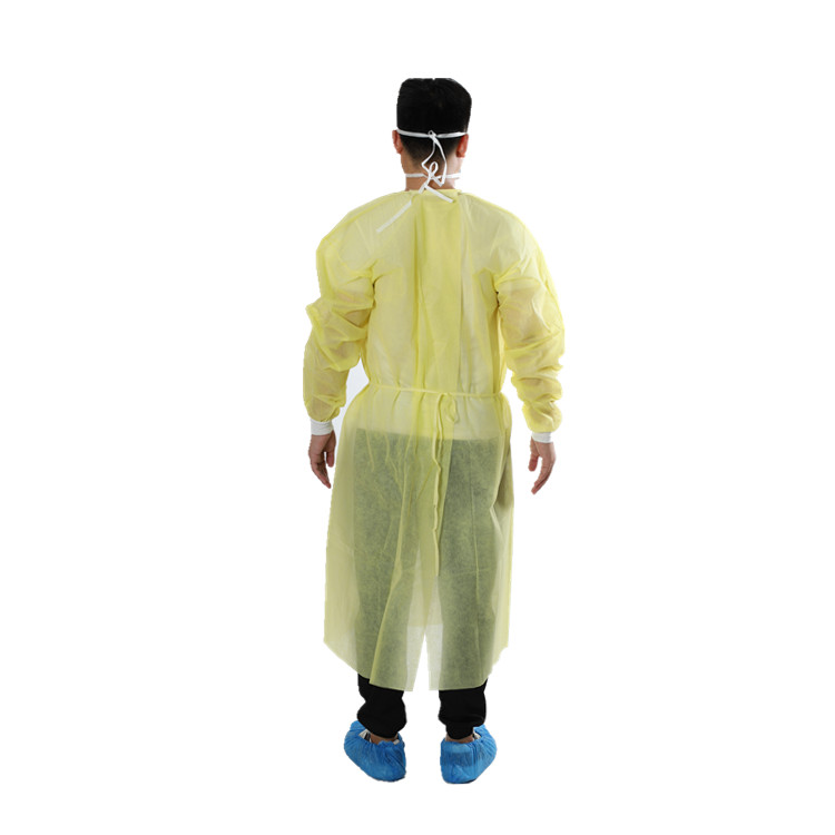 Disposable PP Isolation Gown Heal-sealing
