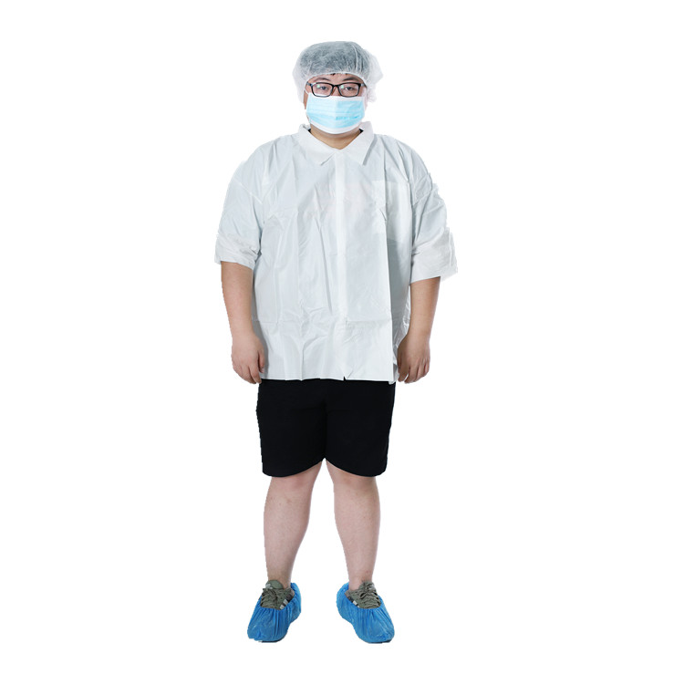Lab Coat - Short Sleeve/Snap/Microporous