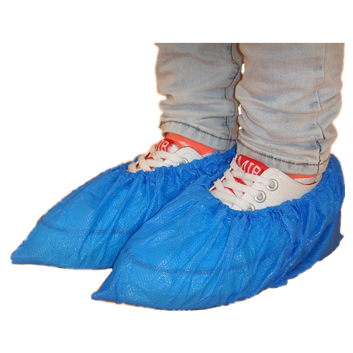 Disposable CPE machine made overshoes