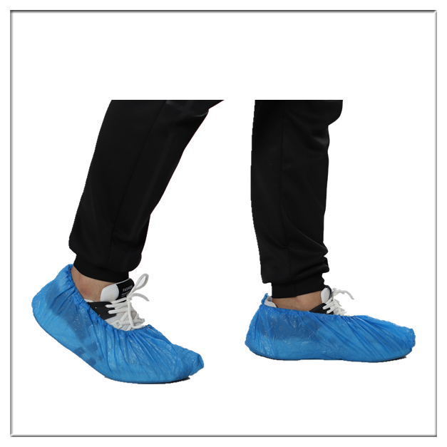 Disposable CPE hand made overshoes
