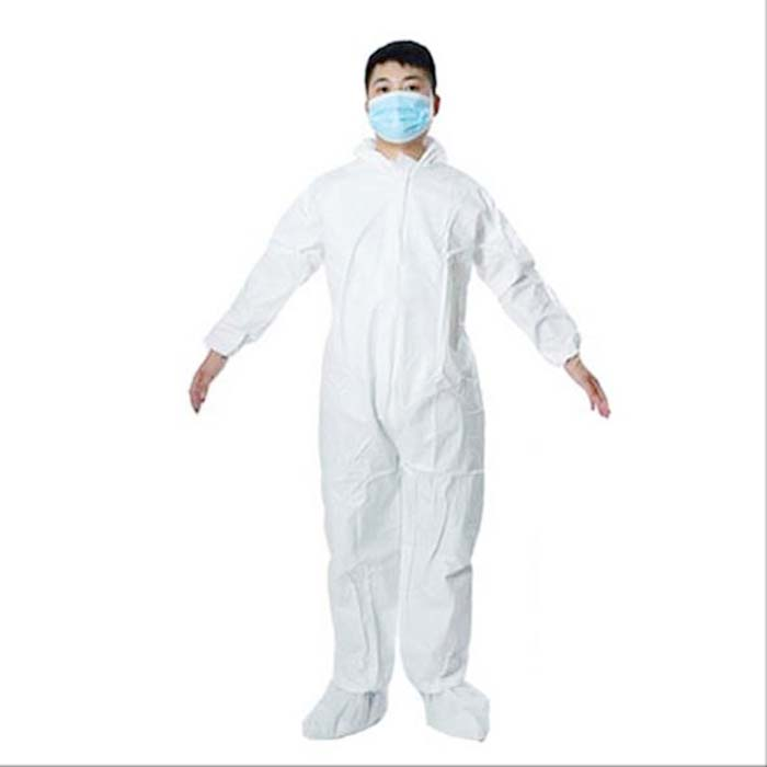 Disposable Coverall With Hood - Microporous Film