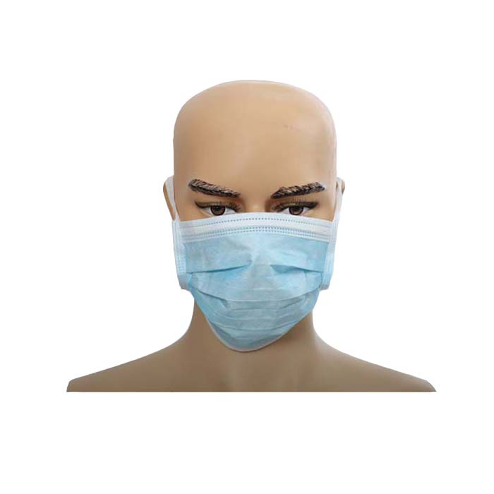 Disposable face masks with tie on